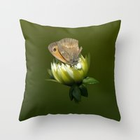 predator Throw Pillows featuring PREDATOR by Miguel Angelo