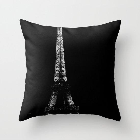 Paris by night Throw Pillow