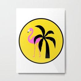 Fun In The Sun Flamingo Metal Print