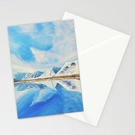 Maskinonge Waterton Lakes Winter Reflection Stationery Cards