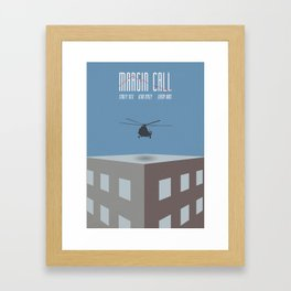 Margin Call, minimalist movie poster, Kevin Spacey, Stanley Tucci, Demi Moore Framed Art Print