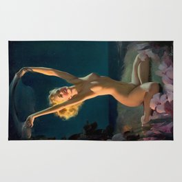Gay Nymph by Gil Elvgren Pin Up Girl Rug