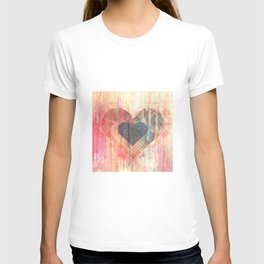Vintage overlay heart Abstract T-shirt
