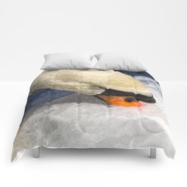 Peaceful Swan Art Comforters