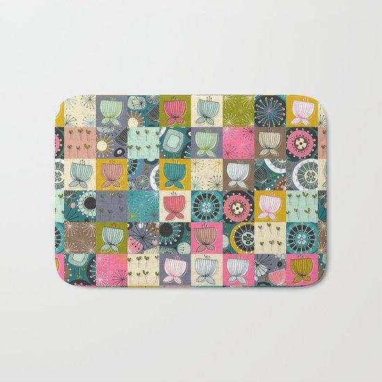 blooms patchwork Bath Mat