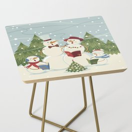 Christmas Song / Snowmen Side Table