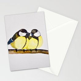A Pair of Great Tits Stationery Cards