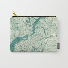 Ottawa Map Blue Vintage Carry-All Pouch