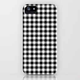 Classic Black and White Western Cowboy Buffalo Check iPhone Case