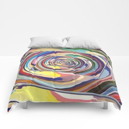 Spinning Colors Abstract Comforters