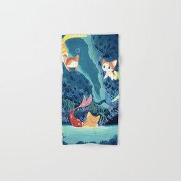 Cat fishes Hand & Bath Towel
