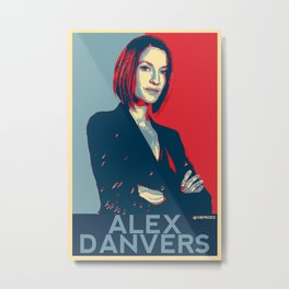 Alex Danvers POP ART Metal Print
