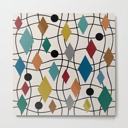 Colorful Mid Century Modern Geometric Abstract 124 Metal Print