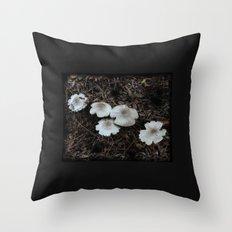 Beautiful Mushrooms Throw Pillow