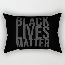 Black Lives Matter grey Rectangular Pillow