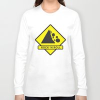rock n roll Long Sleeve T-shirts featuring Rock 'n Roll by Franz24