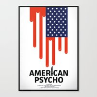 american psycho Canvas Prints featuring American Psycho by Chris Thornley