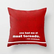 Parks + Rec - Ron Swanson Throw Pillow
