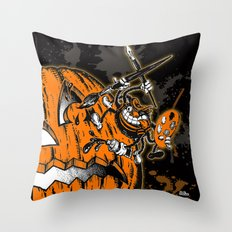 Halloween Pumpkin & Spider Artist Hepcat Throw Pillow