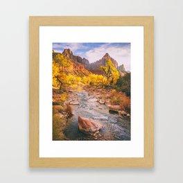 River Runs Through Zion Fine Art Print Framed Art Print