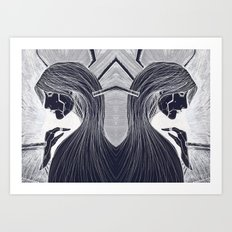 Cyborg Woman (Dark) Art Print