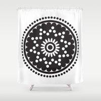 scandinavian Shower Curtains featuring Scandinavian Flower by HeyAle!