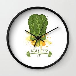 Kaled It Kale Art for Vegans Vegetarians on Diet Light Wall Clock