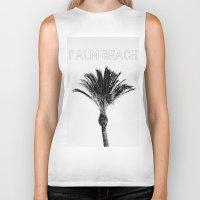 palm Biker Tanks featuring Palm  by Patricia de Cos