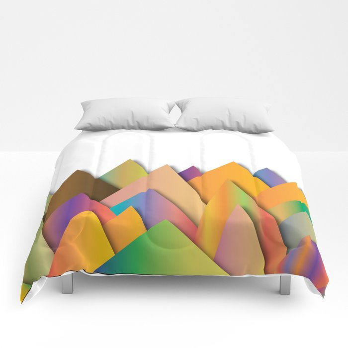 Mountains of Colorcombinations Comforters