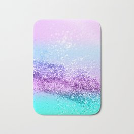 Unicorn Girls Glitter #14 #shiny #decor #art #society6 Bath Mat