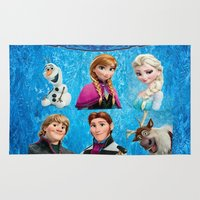 olaf Area & Throw Rugs featuring Frozen Olaf, Elsa and Anna by custompro