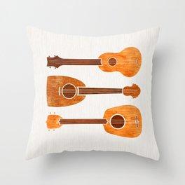 Hawaiian Ukuleles Throw Pillow