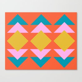 Colorful and Bold Geometric Design Canvas Print