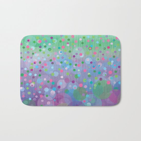 Colorful Rain Bath Mat