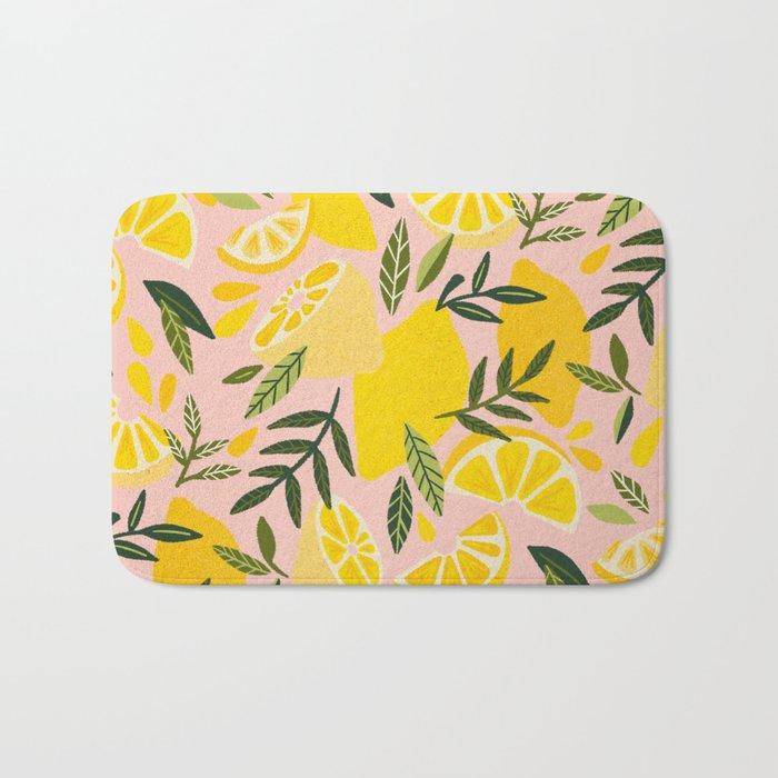 Lemon Blooms – Blush Palette Bath Mat