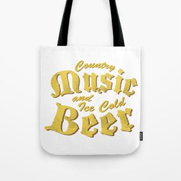 Country Music and Beer Funny Musicians Gifts Tote Bag