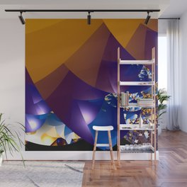 Mixed feelings about seasons as abstract landscape Wall Mural