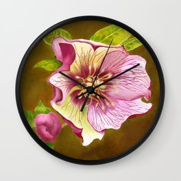 Lenten Rose Wall Clock