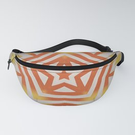Super Star // Retro 70's Vintage Orange Yellow Abstract Geometric Starry Disco Pattern Fanny Pack