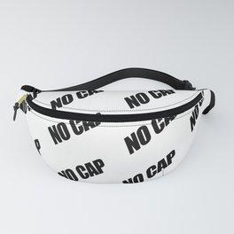 NO CAP Black Minimal Pattern Fanny Pack