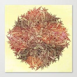 Botanical BioMorph Mandala Canvas Print