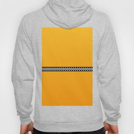 NY Taxi Cab Yellow with Black and White Check Band Hoody