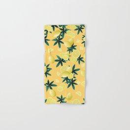 Lemon Twist Vibes #3 #tropical #fruit #decor #art #society6 Hand & Bath Towel