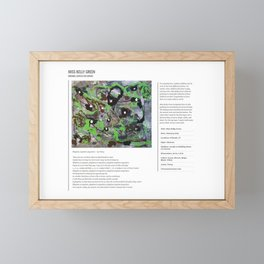 Miss Kelly Green / Art Stories Framed Mini Art Print