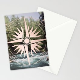 Rose Gold River Adventure Stationery Cards