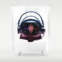 radiohead Shower Curtains featuring Radiohead by Steven Toang