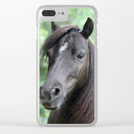 Black Beauty Clear iPhone Case