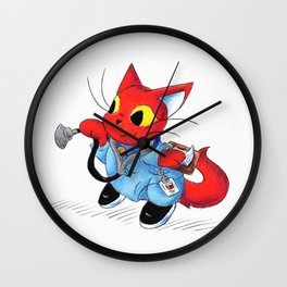 Neko Nurse Wall Clock