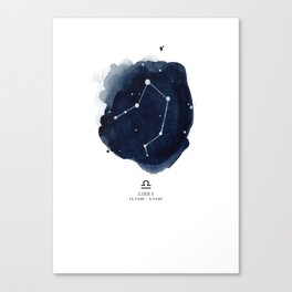 Zodiac Star Constellation - Libra Canvas Print