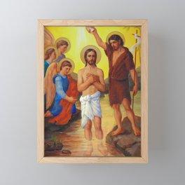 The Baptism of Jesus Christ Framed Mini Art Print